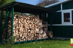 Holzunterstand auf stabilem Fundament selber bauen